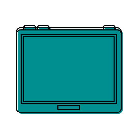 tablet gadget icon image vector illustration design  blue color
