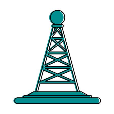 Antenne telecommunicatie pictogram afbeelding vector illustratie ontwerp blauwe kleur Stockfoto - 82950138