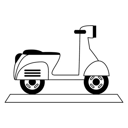 scooter motorcycle icon image vector illustration design