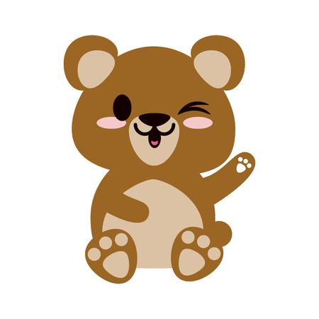 bear or cub cute animal cartoon icon image vector illustration design