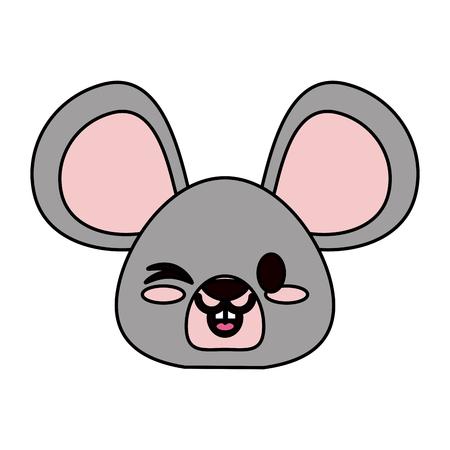mouse cute animal cartoon icon image vector illustration design