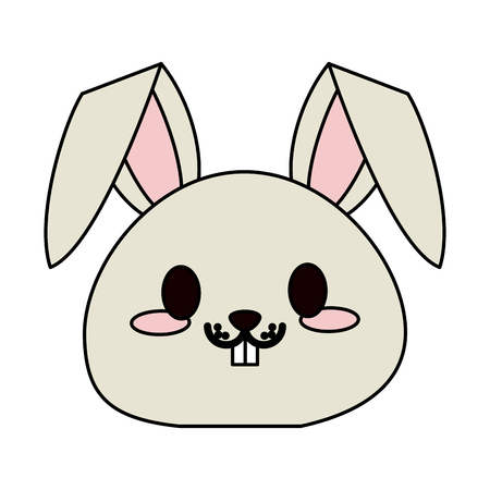 rabbit or bunny cute animal cartoon icon image vector illustration design