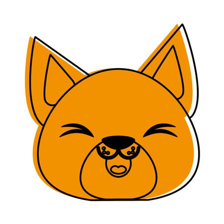 animal pussy: cat cute animal cartoon icon image vector illustration design  orange color Illustration