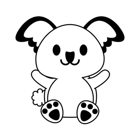 koala cute animal cartoon icon image vector illustration design