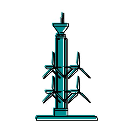 tidal power plant icon image vector illustration design blue color Иллюстрация