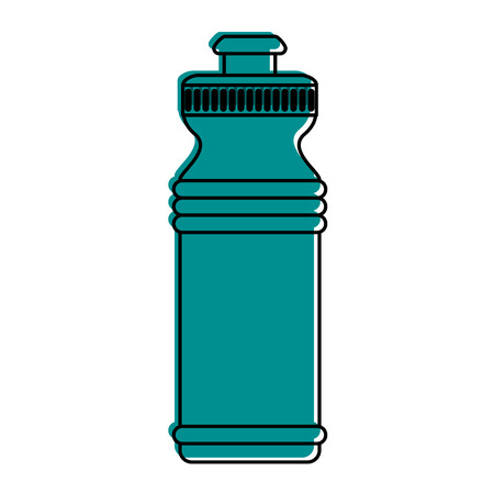 thirsty: sports water bottle icon image vector illustration design  blue color