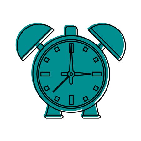 nap: alarm clock icon image vector illustration design  blue color