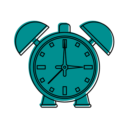 alarm clock icon image vector illustration design  blue color