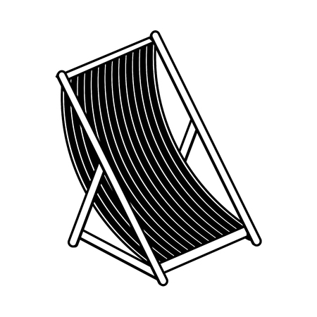 sun chair icon image vector illustration design  black and white
