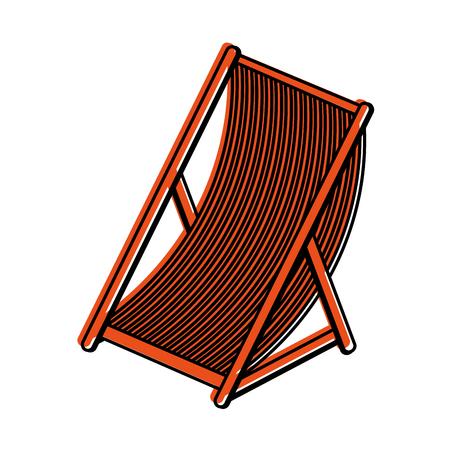 sun chair icon image vector illustration design  orange color Illustration