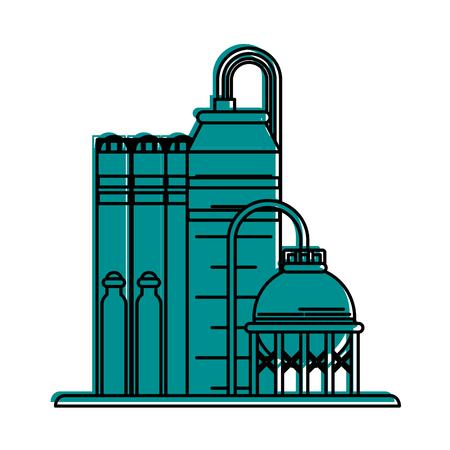 oil refinery icon image vector illustration design  blue color