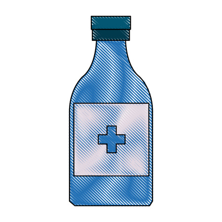 medicine bottle icon health care product vector illustration