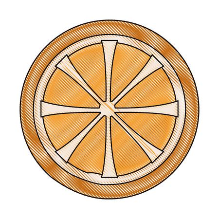 fresh ripe slice of orange healthy food vector illustration