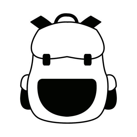 backpack school equipment bag education vector illustration