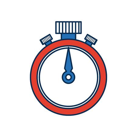 seconds: stopwatch chronometer precision timepiece flat icon vector illustration Illustration