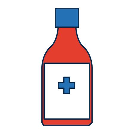 medicine bottle icon health care product vector illustration