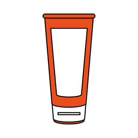 tumbler: Flat line glass with hint of color over white background vector illustration