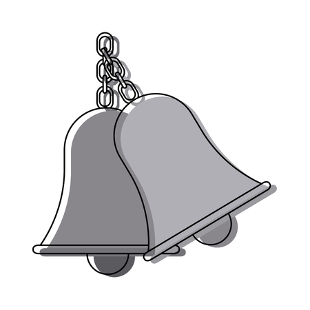 recess: retro school bell handle clapper classic vector illustration Illustration
