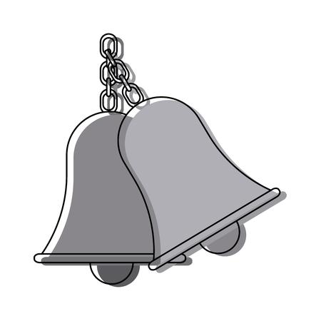 retro school bell handle clapper classic vector illustration Illustration