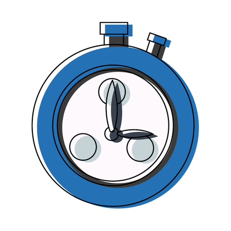 stopwatch school subject sign simple icon on background vector illustration