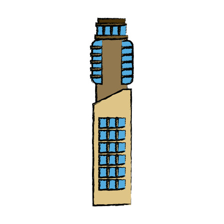 modern building high structure urban exterior vector illustration Ilustracja