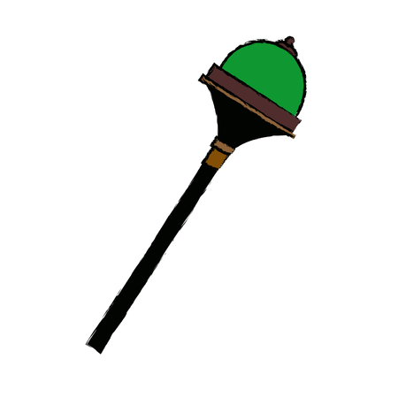 scepter: royal scepter accessory authority element vector illustration