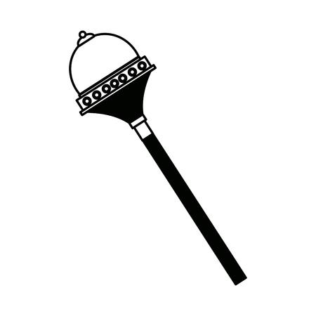 Koninklijke Scepter Accessory Authority element vector illustratie