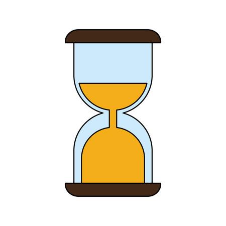 to trickle: sand glass timer icon vector illustration graphic design Illustration