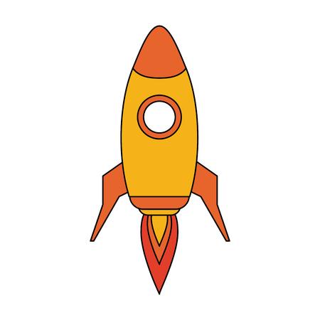 space rocket launch icon vector illustration graphic design