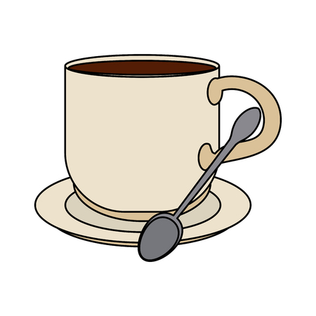 hot cup of coffe icon vector illustration graphic design Illustration