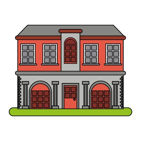 city building icon vector illustration graphic design Illustration