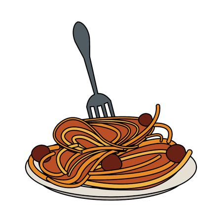 mediterranean diet: delicious italian pasta icon vector illustration graphic design