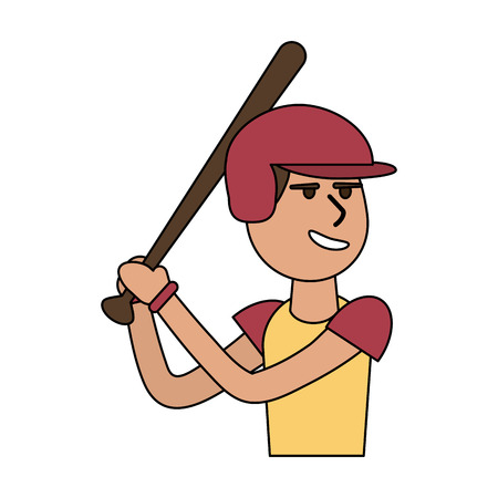 boy playing baseball vector illustration graphic design