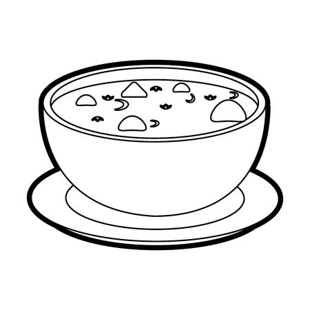 hot soup bowl icon vector illustration graphic design