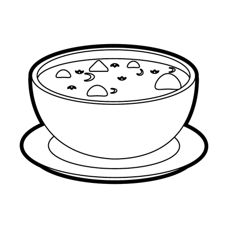 hot soup bowl icon vector illustration graphic design