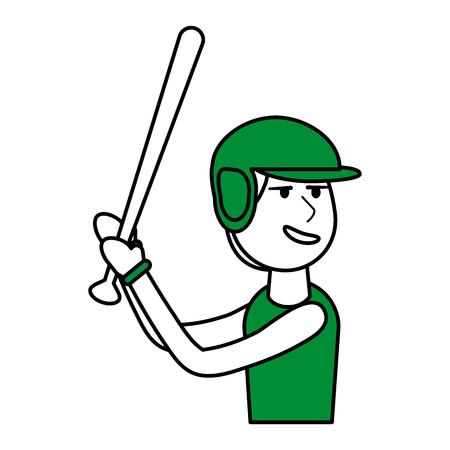 boy playing baseball vector illustration graphic design