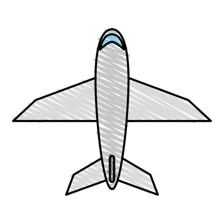 pilot  cockpit: means of transportation icon vector illustration graphic design Illustration
