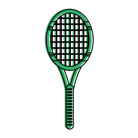 race winner: tennis racquet fitness related icon image vector illustration design green color Illustration