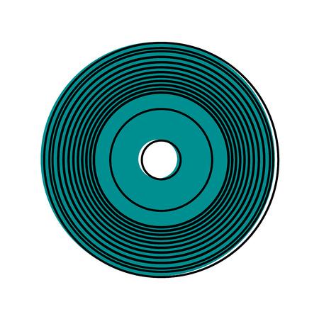 vinyl record icon image vector illustration design blue color Illustration