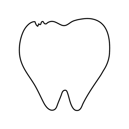 heart disease: molar tooth healthcare related icon image vector illustration design black and white