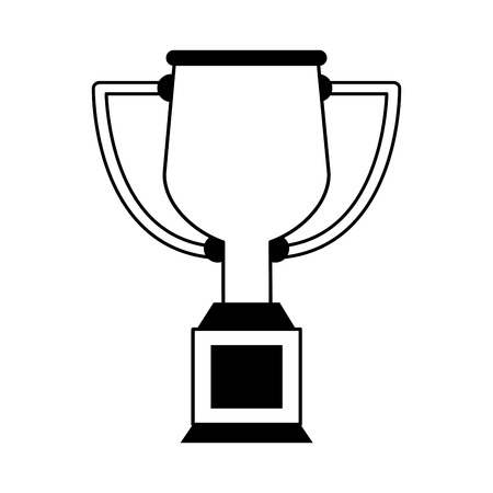 trophy cup icon image vector illustration design black and white