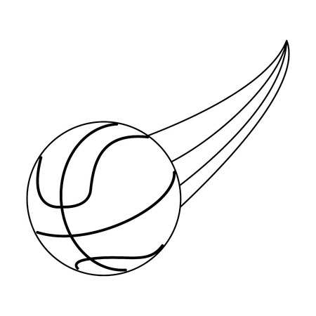 race winner: basketball ball sport or fitness related icon image vector illustration design black and white