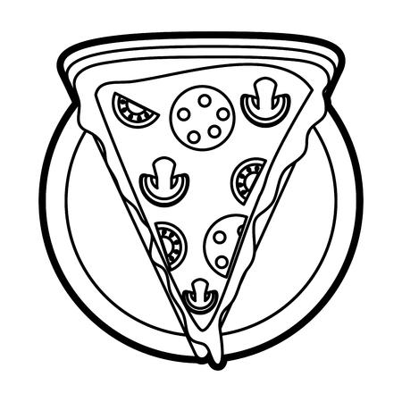 Colorido Camión De Pizza Sobre Fondo Blanco Ilustración Vectorial ...