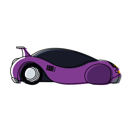 futuristic car vehicle smart autonomous side view vector illustration