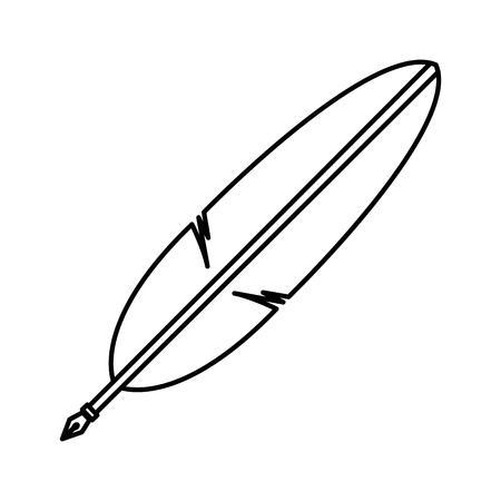 Pluma en forma de la pluma de aves ilustración vectorial Foto de archivo - 83170632