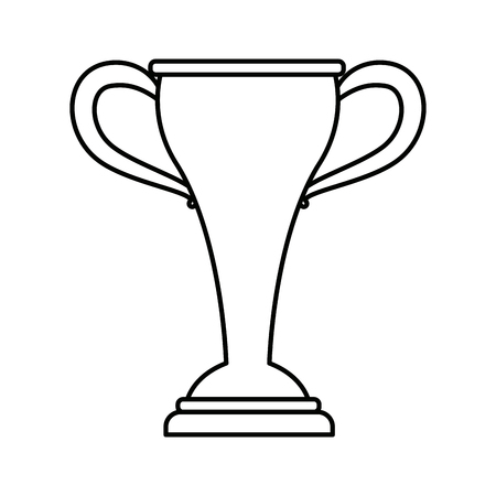 sport trophy championship winner symbol vector illustration