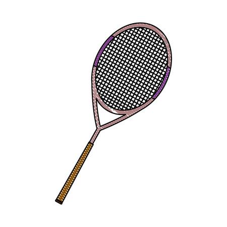 tennis racket equipment activity sport vector illustration