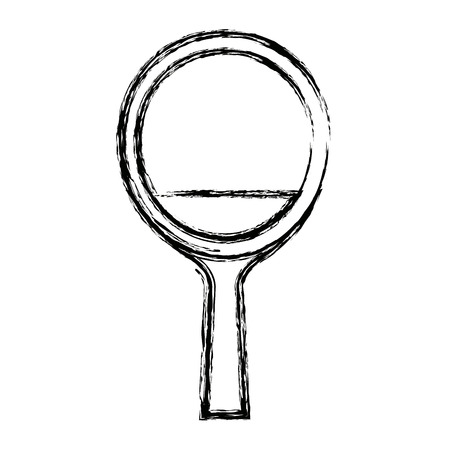 table tennis racket wooden handle equipment vector illustration