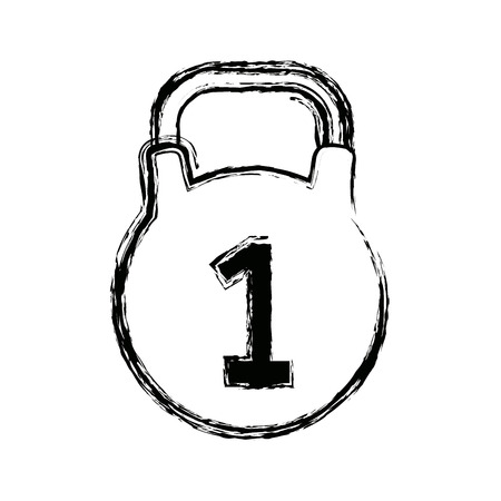kettlebell icon sport and fitness weight symbol vector illustration