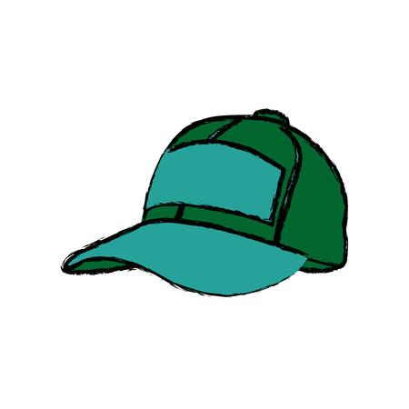 sport cap accessory protection fashion icon vector illustration Illustration